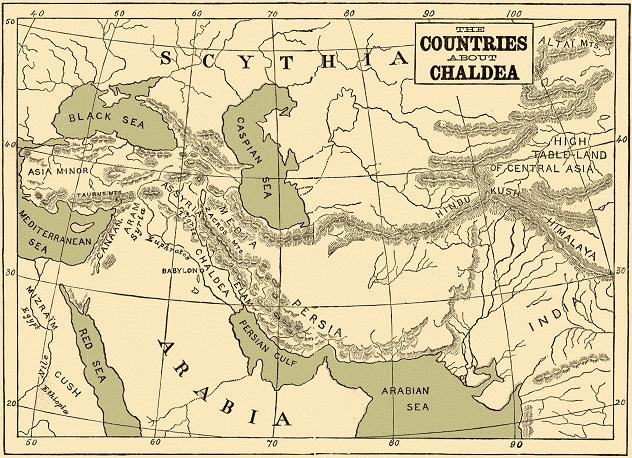 古代カルディア地方の地図